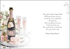 Wedding Day Jonny Javelin Card - Roses & Champagne