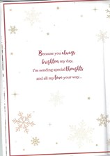 Christmas Wife 8 Page Large Card - Traditional Tree & Christmas Wreath
