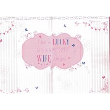 Birthday Wife Pop Up Card - Butterflies