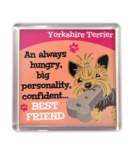 Top Dog Yorkshire Terrier Magnet