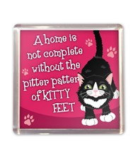 Top Cat Black & White Cat Magnet - Design 2