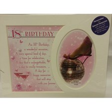 Photo Mount 18th Birthday Pink 10 x 8