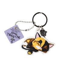 Top Cat Calico Cat Keyring
