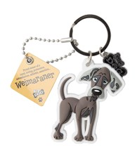 Top Dog Weimaraner Keyring