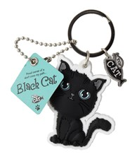 Top Cat Black Cat Keyring - Design 2