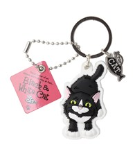 Top Cat Black & White Cat Keyring
