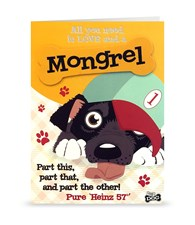 Top Dog Mongrel Greeting Card