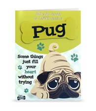 Top Dog Pug Greeting Card