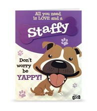 Top Dog Staffy Greeting Card