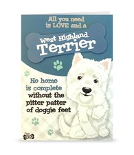 Top Dog West Highland Terrier Greeting Card