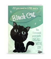 Top Cat Black Cat Greeting Card - All You Need Is Love