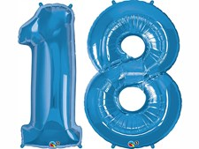 """Click & Collect Qualatex Blue  34""""  '  Other Cols Available £7.99 Each Number"""