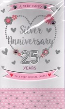 Anniversary 25th Card - To A Very Special Couple Card