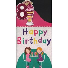 Birthday 8 Today Card - Ice Cream Parlour
