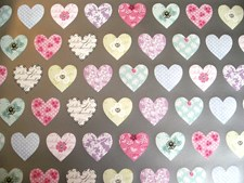 Gift Wrap Anniversary & Birthday Luxury Love Hearts Patterned  - 2 Sheets
