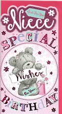 Birthday Niece Card - Cute Bear