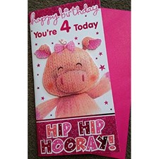 Birthday 4 Today Card - Cute Piggy