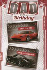 Birthday Dad Card - Sport Cars