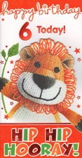 Birthday 6 Today Card - Cute Lion