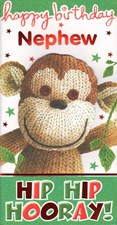 Birthday Nephew Card - Cute Monkey