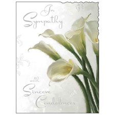 Sympathy Card - Illustration Of Peace Lily's