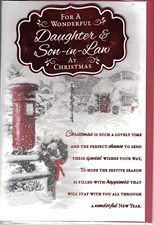 Christmas Daughter & Son in Law Card - Traditional Snowy Scene