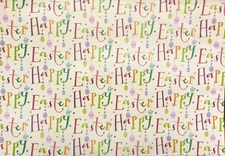 Unisex Easter Wrapping Paper 2 Sheets - Happy Easter!