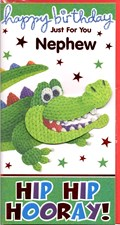 Birthday Nephew Card - Cheeky Crocodile Card