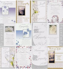 Assorted Sympathy/Bereavement 12 Card Pack