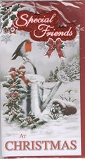 Christmas Special Friends Card - Robin & Watering Can