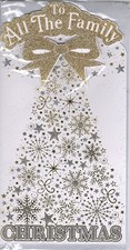 Christmas To All Of You Card - Snowflake Christmas Tree