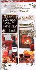 Christmas Special Friends Card - Beside The Fire
