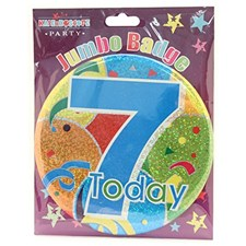 Party All Ages Badge 7 Today Badge - Balloons & Confetti