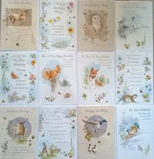 Birthday Assorted Wildlife Cards - Pack of 12