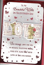 Valentines Day Wife Card – Bear Couple & Love