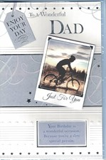 Birthday Dad Card - Mountain Bike