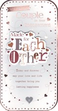 To A Special Couple On Your Engagement - Made For Each Other Card