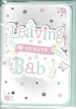 Leaving To Have A Baby Card – Flowers & Butterflies
