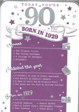 Birthday Age 90th 2019 Year Card - 1929 Was a Special Year PURPLE