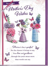 Mother's Day Card - Three Vases Of Flowers