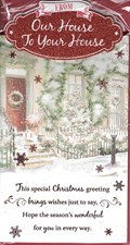 Christmas From Our House To Your House Card - Front Door & Reef