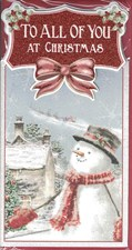 Christmas To All of you Card - Snowman & Santa's Sleigh