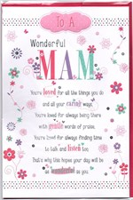 Birthday Mam Pop Up Card - Flowers & Beautiful Verse