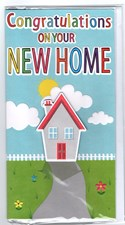 New Home Card - House & Picket Fence