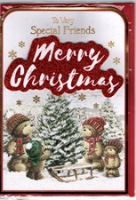 Christmas Special Friends Card - Cute Bear Family