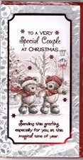 Christmas Special Couple Card - Cute Bear Couple Skating