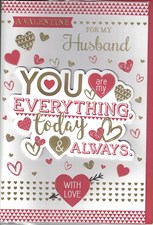 Valentines Day Husband Card – You Are My Everything & Always