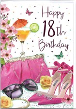 Birthday Sister Card - Dress & Hat Boxes