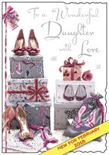 Birthday Daughter Card - To A Wonderful Daughter With Love