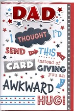 Fathers Day Card - Awkward Hug